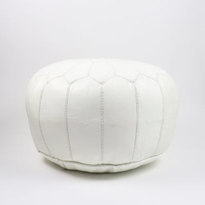 California Pouf - White