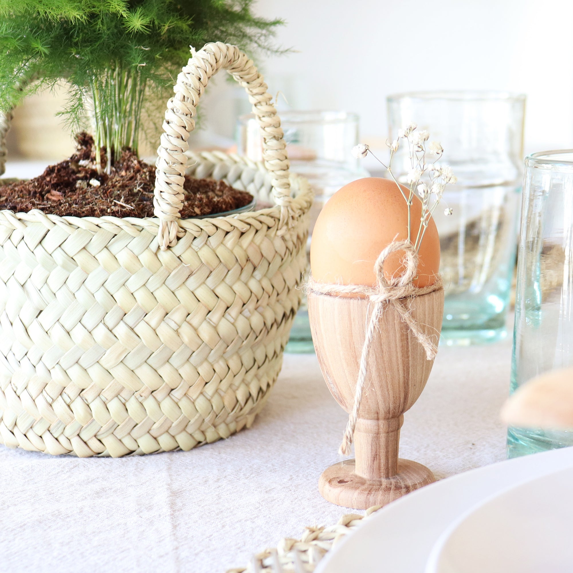 tiny straw storage basket