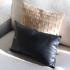 Vegetable tanned leather hand stitched in black color