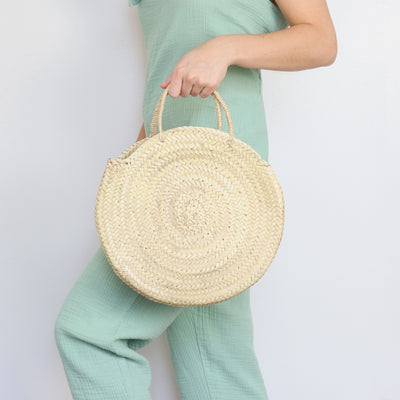 San Diego Round Straw Bag