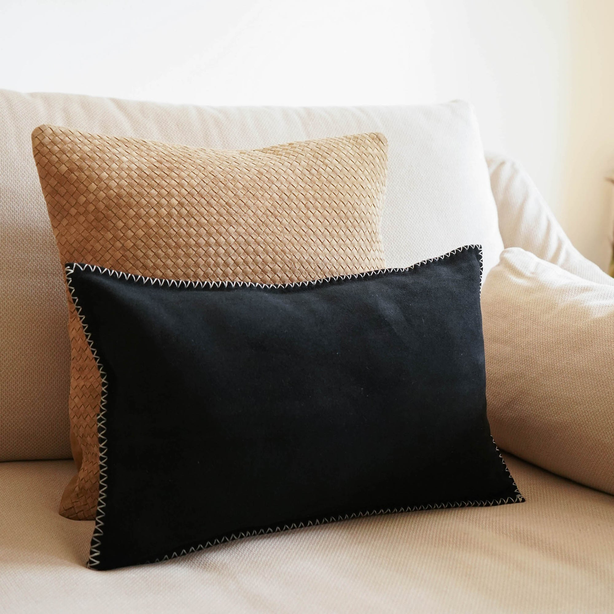WILLIAMSBURG Suede Pillow Cover