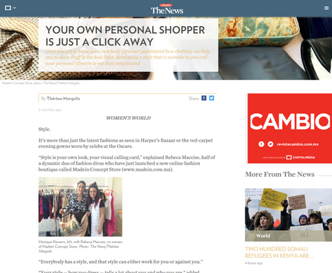 the news online made in concept store
