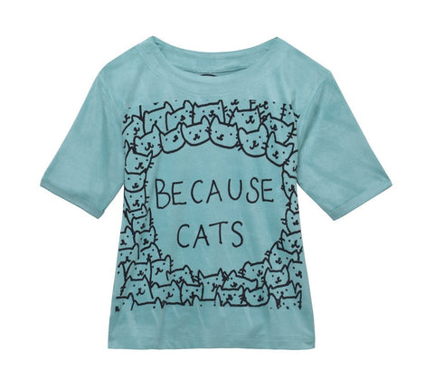 blusa verde menta because cats