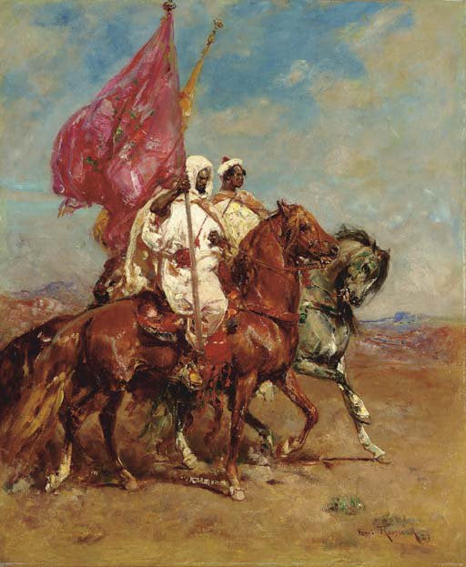 Moorish Jigsaw Puzzles : Moors riding horses