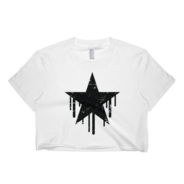 Dripping Stars Short sleeve crop top
