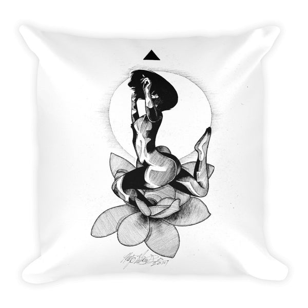 Lotus Square Pillow