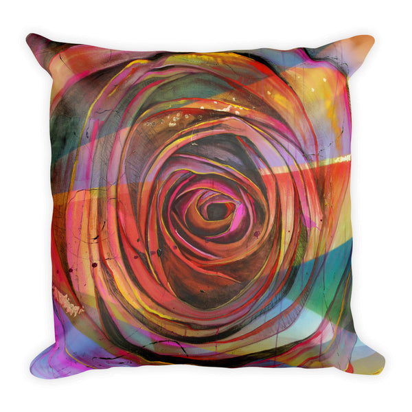 Full Bloom Square Pillow