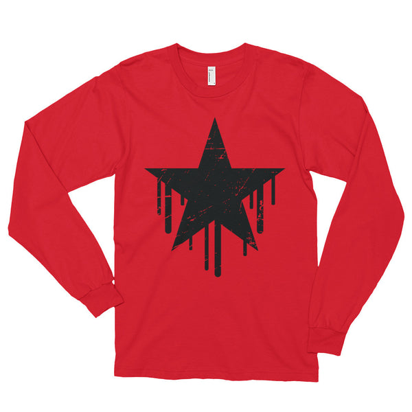 Dripping Star Long sleeve t-shirt (unisex)