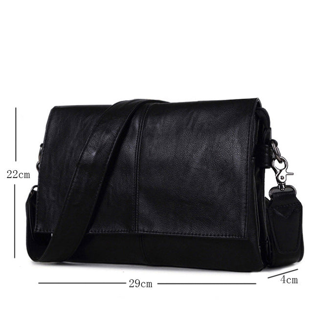 b3f071af36 Men s Leather Shoulder Bag Envelope Style Bag Large-capacity ...