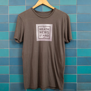 Heath Square Newsstand Logo T-Shirt (Charcoal)