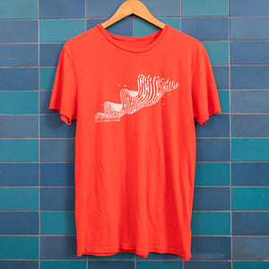 Heath Newsstand Logo T-Shirt (Red Brendan Wave)