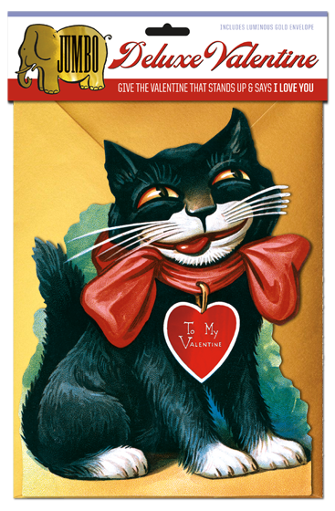 Laughing Elephant - Smiling Cat Deluxe Valentine