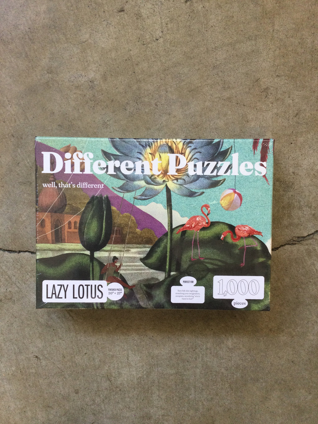 Different Puzzles - 1000 Pieces - Lazy Lotus