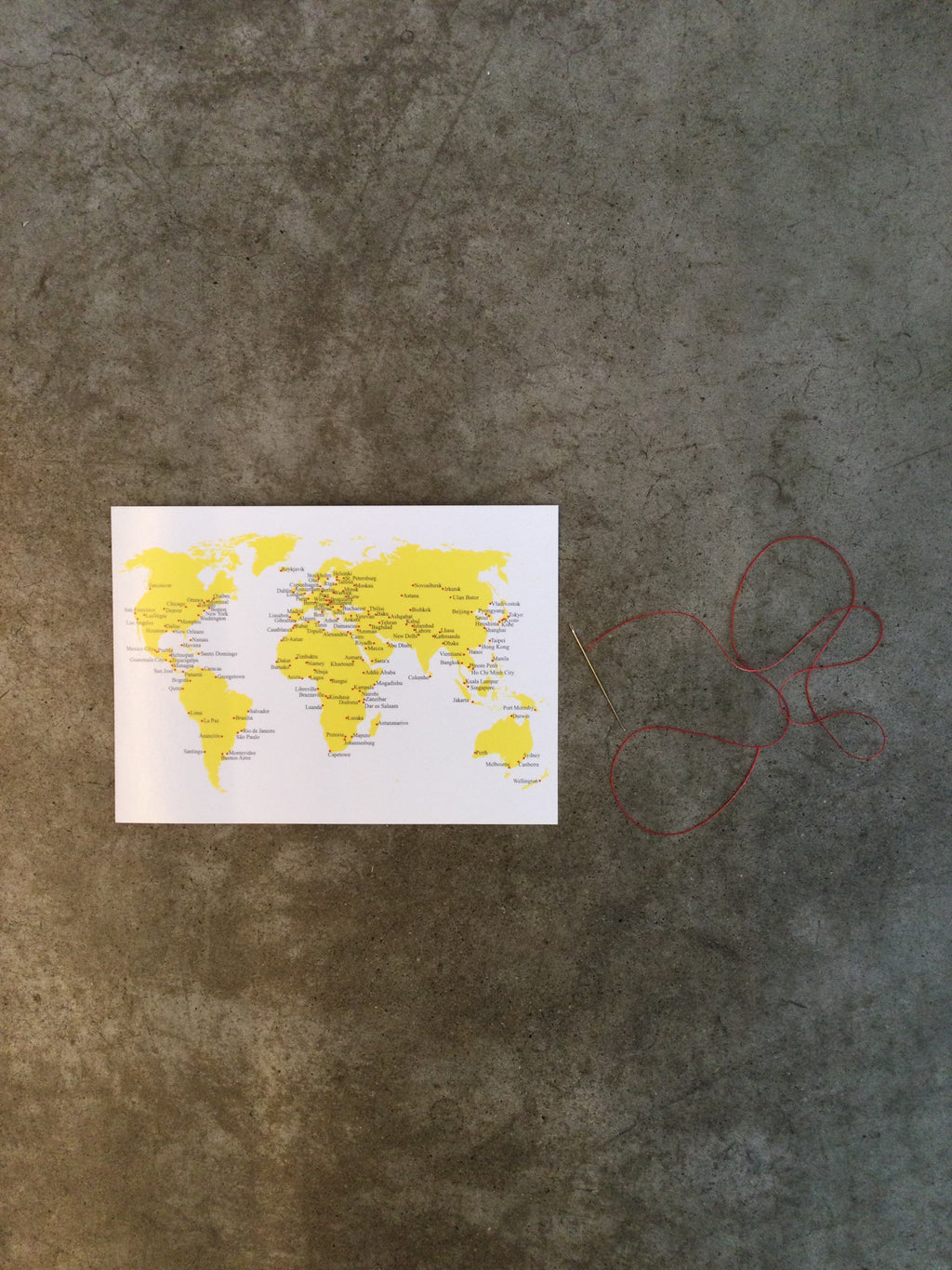World Stitching Postcard