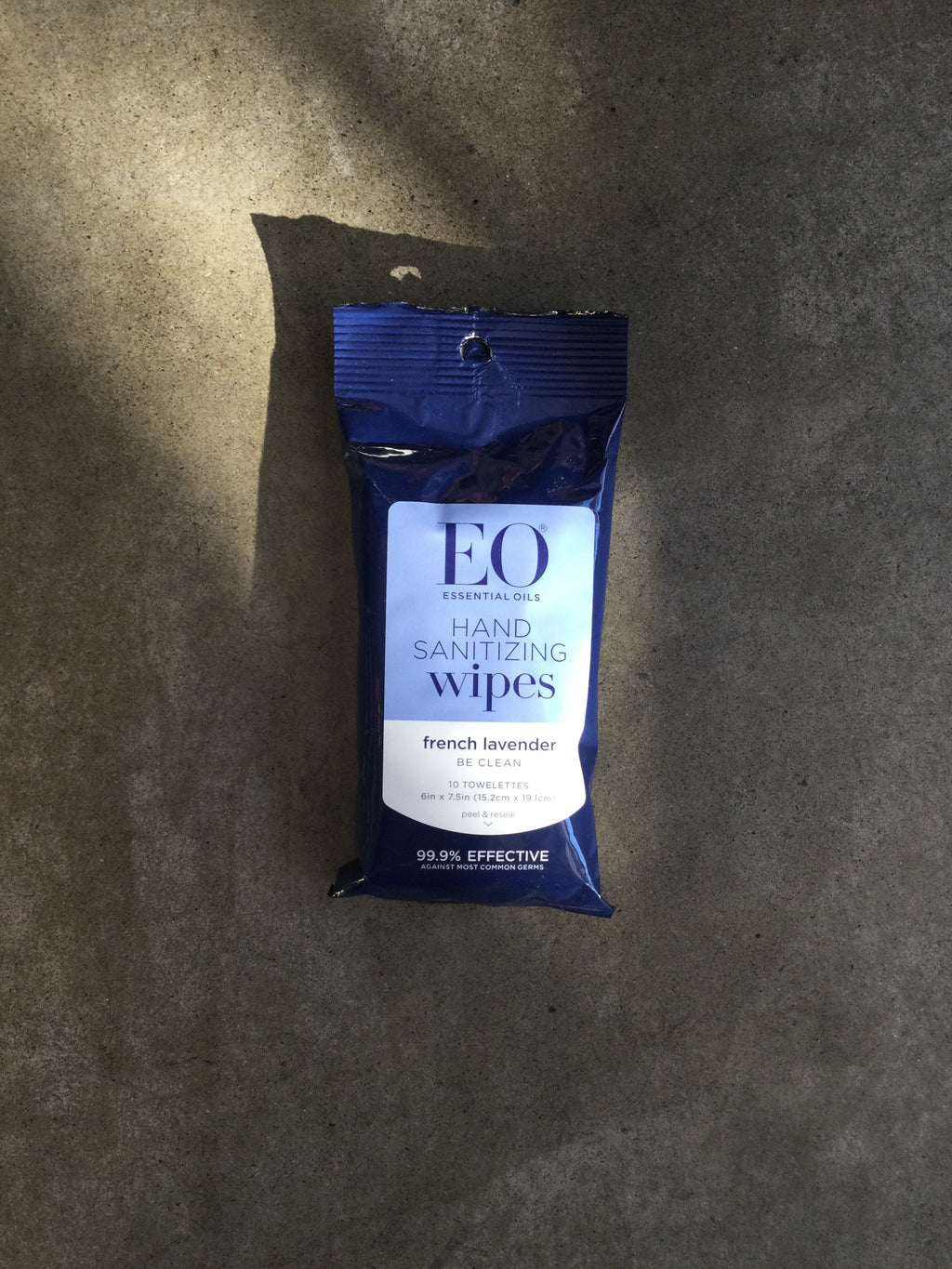 EO - Hand Sanitizing Wipes French Lavender Pouch