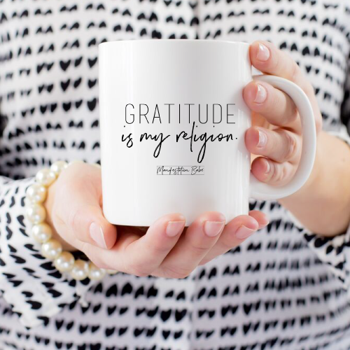 Gratitude Is My Religion Mug