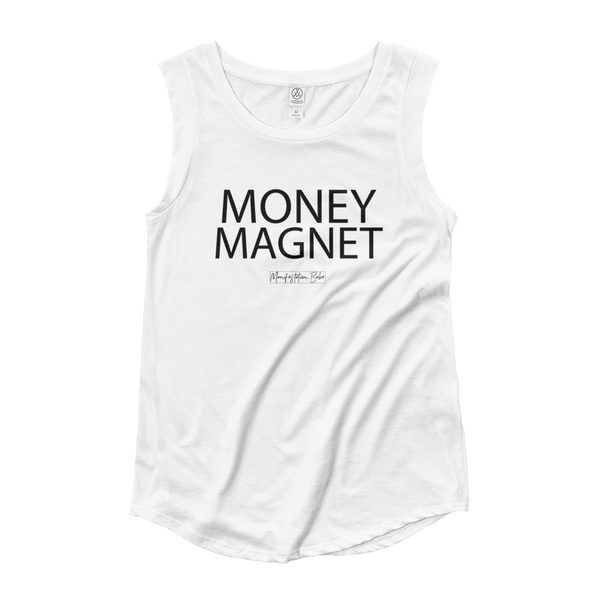 MONEY MAGNET Cap Sleeve Shirt