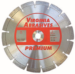 Virginia Abrasives Small Diameter Concrete Blade Premium Green Concrete and Early Entry
