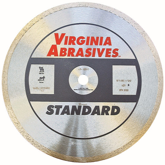 Virginia Abrasives Tile Saw Blade Standard Continuous Rim