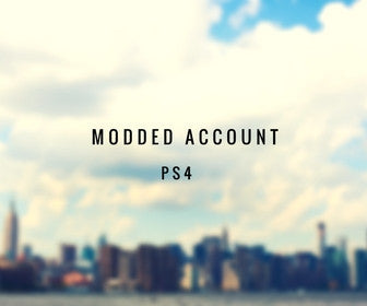 GTA 5 Modded Account PS4