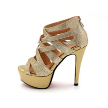 High Heel Peep Toe Sandals