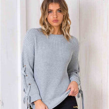 O-Neck knit sleeves loose sweater