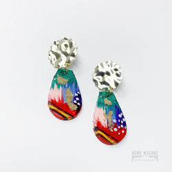 Hand painted clay earrings New Orleans
