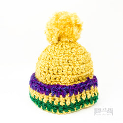 Toddler Mardi Gras Knit Hat