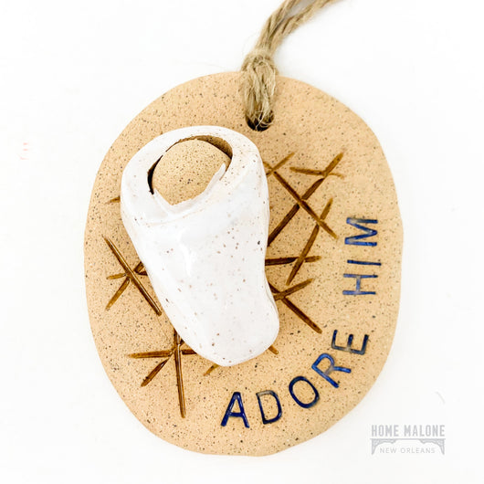 Adore Him Ceramic Ornament