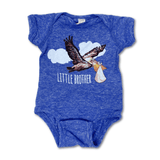 Little Brother Onesie - Pelican Stork New Orleans Baby Gift