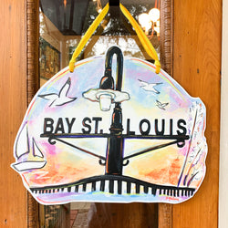 Bay St. Louis Art Door Hanger