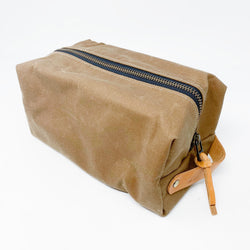 Waxed Canvas Dopp Kit - Natural