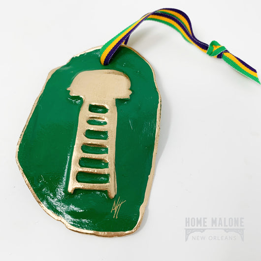 Ladder Mardi Gras Ornament