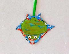 Recycled Crab Ornament