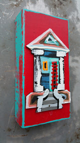 "Abstract House 3""x6"""