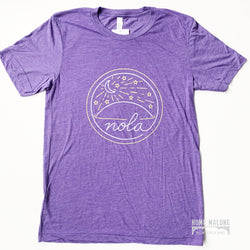 Purple NOLA Meter Tee