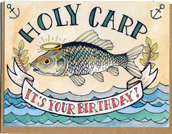 Holy Carp Birthday Card