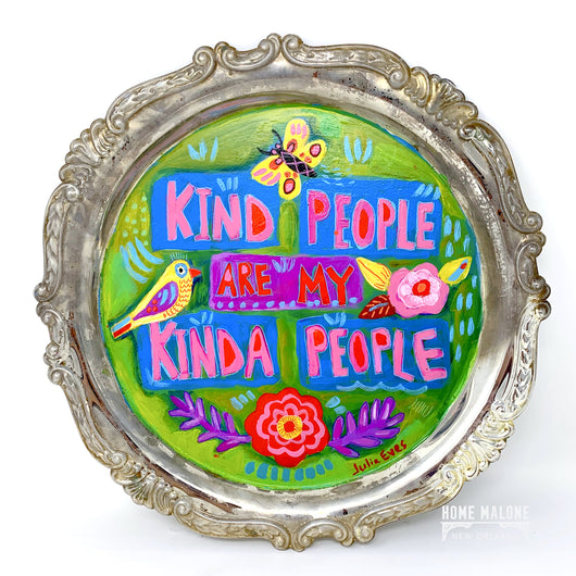 JE - Kind People on Vintage Tray