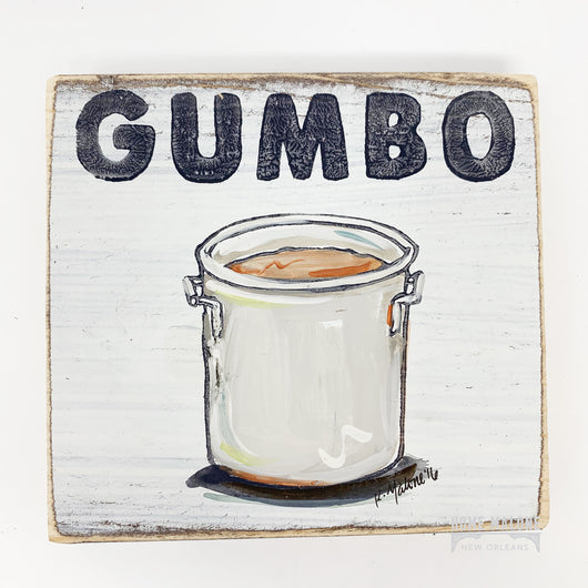 Gumbo Pot Wood Sign