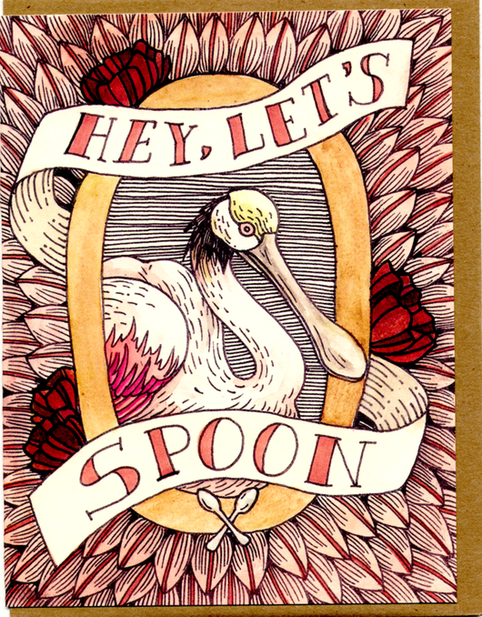 Hey Let's Spoon Card