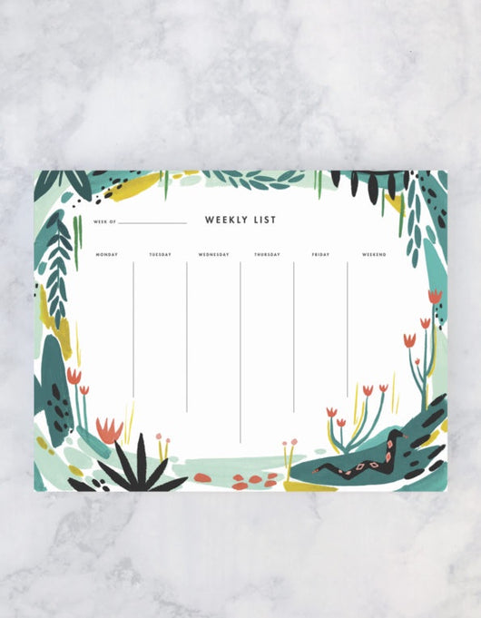 Weekly Planner: Jungle