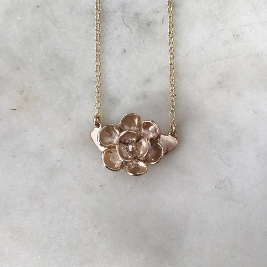 Magnolia Necklace Double Attached