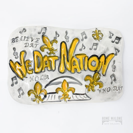 We Dat Nation New Orleans Saints Ceramic Wall Art