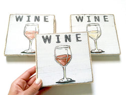 Wine Wood Sign