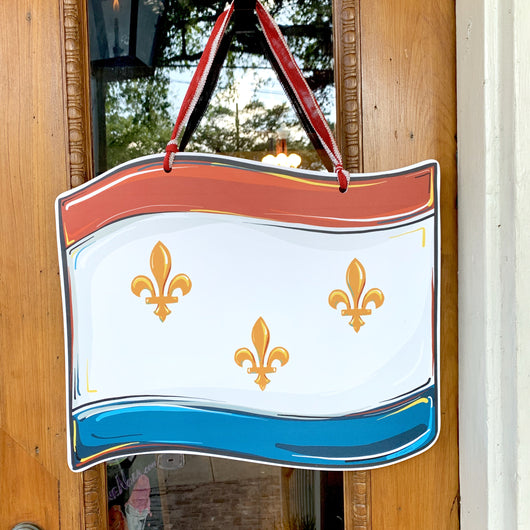 Flag Of New Orleans Door Hanger
