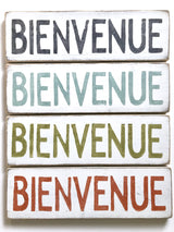 Bienvenue Wood Sign