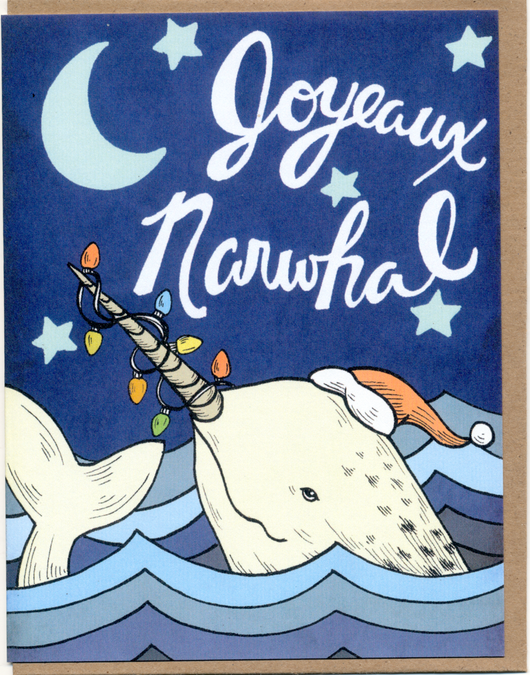 Joyeaux Narwhal Card