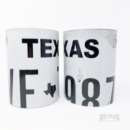 TX License Plate Can Holder
