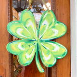 St. Patrick's Day Door Hanger Lucky Four Leaf Clover Home Malone New Orleans.