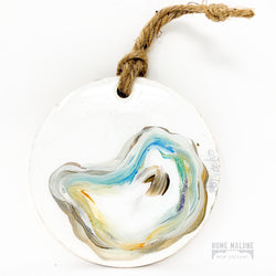 Hand Painted Oyster Ornament